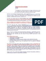 Relatório de auto-avaliação - Evidencias