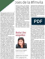 Coses de la #fmvila, article a El 3 de vuit