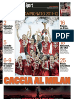 La Gazzetta Dello Sport Ed Spec. Campionato 26.08.11