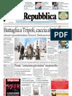 La Repubblica 26.08.11