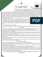 Die Al-Qadr-Nacht [Freitagsansprache vom 26.08.11]
