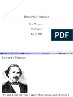 Bertrand's Postulate
