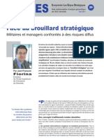 Militaires et managers confrontés à des risques diffus - Notes d'Analyse Géopolitique n°29