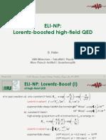 D. Habs ELI NP Lorentz Boosted High Field QED