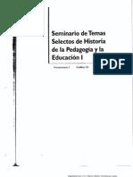 4 Sem. Tem. Sel. de Hist de La Pedagogia y La Educ. i