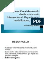 Cooperación al desarrollo desde una visión internacional