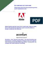 How Big Companies Got Their Name