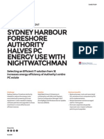 Sydney Harbour Foreshore Authority CaseStudy