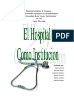 El Hospital Como Institucion 16000