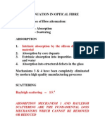 Attenuation in Optical Fibre