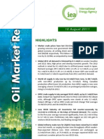 IEA's Monthly Oil Market Report - August 2011