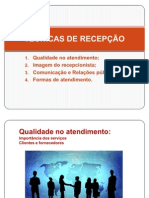 TÉCNICAS DE RECEPÇÃO power point