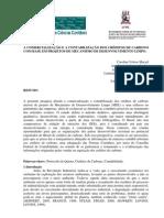 A COMERCIALIZAÇÃO E A CONTABILIZAÇÃO DOS CRÉDITOS DE CARBONO