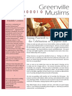 Greenville Muslims Newsletter_Issue 1