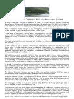 Philip Dundas - Founder of Alcoholics Anonymous Scotland