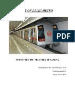 Case Study on Delhi Metro