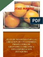 Presentación Plan de Negocios Para la Creación de una Empresa Productora de Granadilla Tipo Exportación Zetaquira (Colombia)
