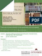 2011 UMN Extension Natural Resource Enterprises workshop flyer