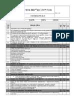 Lista de Verificação Vasos de pressão
