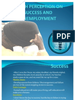 Youth Perception on Success and Unemployment