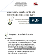 Didactica Musical Acorde a La Reforma de Preescolar