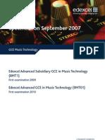 Spec GCE Music Technology