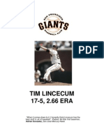 SF Giants Tim Lincecum Notes (First Season)