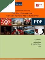 IPLI NOUR Programme Transition Dmocratique Vers Une Nouvelle Ralit Tunisienne