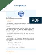 Preposiciones y conjunciones