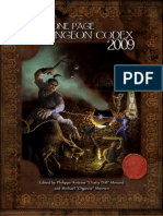 One Page Dungeon Codex Deluxe
