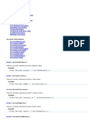 MQL4 Build 154 (Commands & Samples)   Array Data Type