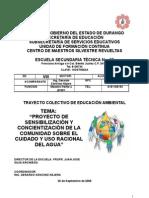 Propuesta de Trayecto Formativo Colectivo Ambiental 2008 - 2009