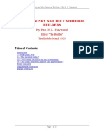 Haywood, H L ~ Freemasonry and the Cathedral Builders [PDF]