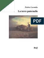 P. Lacombe La Terre Paternelle Roman