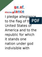 Pledge of Allegiance-Little