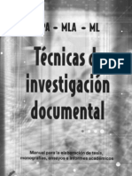 Libro Tecnicas de Investigacion Documental