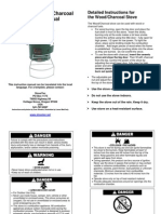 Stove-Tec Wood Charcoal Stove User Manual