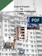 Code of Practice for Precast Concrete Construction