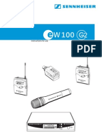 Wireless Receiver--Sennheiser EW100G2 Product Sheet