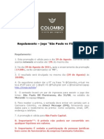 REGULAMENTO - SÃO PAULO VS FLUMINENSE