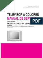 Manual de Servicio LG 29FX5RF y 29FX5RF-LA