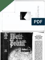 Haushofer Karl - Weltpolitik Von Heute (1935, 165 Doppels., Scan, Fraktur)