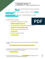 Gr 10 Prac Sheet Ch 7C Nitric Acid