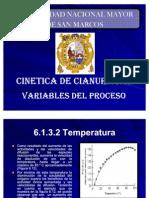 5. Cinética y Variables del Proceso de Cianuración