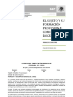 Curso de El Sujeto y su formación profesional como docente_L