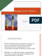 HR Challenges of 21st Century