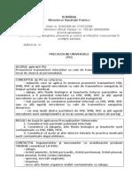 Anexa IV - Precautiuni Universale