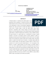 Abstract of Financial Market 1