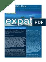 Pattaya Expats Club 28 August 2011