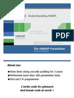 Understanding ESAPI
